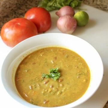Creamy Curry Vegetable Lentil Soup