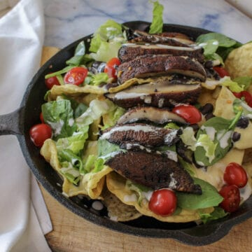 Vegan Smoked Gouda Steak Nachos