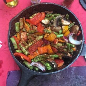 Cajun Vegetables in Beer glaze